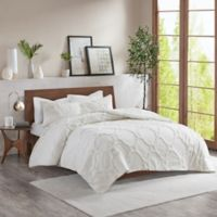 Madison Park Pacey King/California King Comforter Set in White