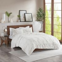 Madison Park Pacey King/California King Coverlet Set in White