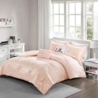 Intelligent Designs Zoey Metallic 5-Piece Reversible Twin/Twin XL Comforter Set in Blush/Rose Gold