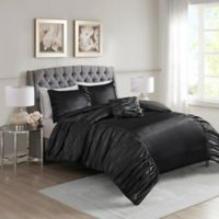Madison Park Devon Full/Queen Duvet Cover Set in Black