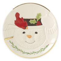 Lenox® Happy Holly Days™ Snowman with Cardinal Cookie Plate