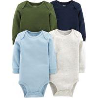carter's® Preemie 4-Pack Long Sleeve Bodysuits