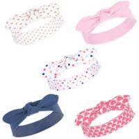 Hudson Baby® Little Treasure Confetti Size 0-24M 5-Pack Headbands in Blue