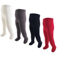 Touched by Nature Size 18-24M 4-Pack Thick Organic Cotton Tights in Red