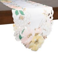 Helena Floral 72-Inch Table Runner in Off White