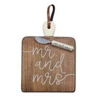 "Mud Pie® 2-Piece ""Mr. and Mrs."" Serving Board Set"