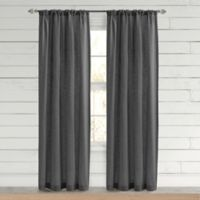 Bee & Willow™ Home Somerton 84-Inch Rod Pocket Window Curtain Panel in Charcoal