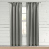 Farmhouse Hanley 108-Inch Rod Pocket Window Curtain Panel in Grey
