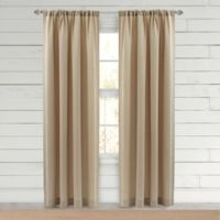Farmhouse Hanley 84-Inch Rod Pocket Window Curtain Panel in Natural