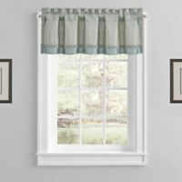 Athens Rod Pocket Window Valance in Blue