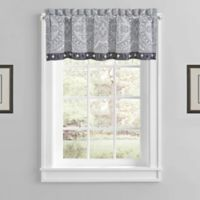 Coleen Rod Pocket Window Valance in Silver