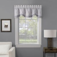 Lani Embroidered Window Valance in Natural