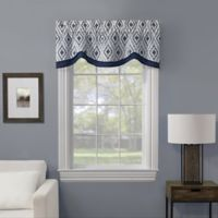 Lani Embroidered Window Valance in Indigo