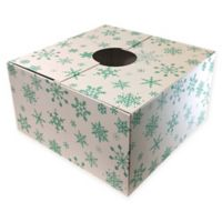 Christmas Tree Box 20-Inch Snowflake Tree Stand Cover in White/Blue
