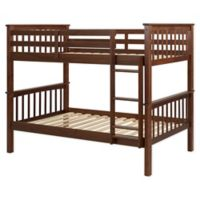 Forest Gate Charlotte Solid Wood Twin Bunk Bed with Trundle in Walnut