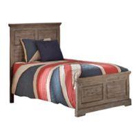 Hillsdale Furniture Oxford William Twin Panel Platform Bed in Cocoa