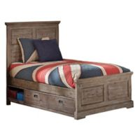 Hillsdale Furniture Oxford William Twin Panel Platform Bed with Storage in Cocoa