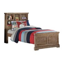 Hillsdale Furniture Oxford Twin Bookcase Platform Bed in Cocoa