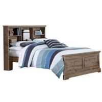 Hillsdale Furniture Oxford Full Bookcase Platform Bed in Cocoa