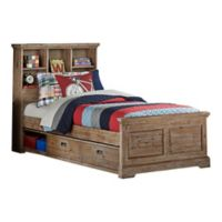 Hillsdale Furniture Oxford Twin Bookcase Platform Bed with Storage in Cocoa