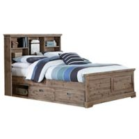 Hillsdale Furniture Oxford Full Bookcase Platform Bed with Storage in Cocoa