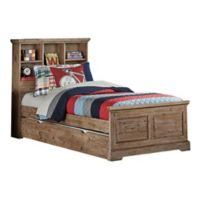 Hillsdale Furniture Oxford Twin Bookcase Platform Bed with Trundle in Cocoa