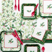 Creative Converting 73-Piece Holly Party Supplies Kit