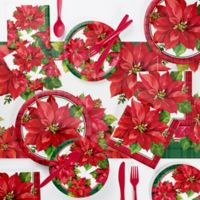 Creative Converting™ 73-Piece Poinsettia Party Supplies Kit
