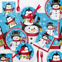 Creative Converting™ 73-Piece Snowman and Penguin Party Supplies Kit
