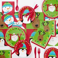 Creative Converting Santa and Friends 73-Piece Party Supplies Kit