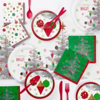 Creative Converting Bright Christmas 73-Piece Tree Party Supplies Kit