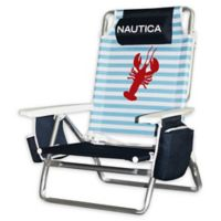 Nautica® 5-Position Beach Chair in Lobster Stripe