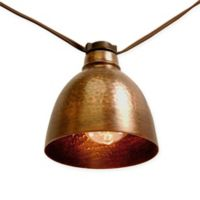 Bronze Metal Café Electric String Lights with Edison Style Bulbs (10 Lights)