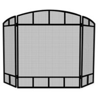 UniFlame® 3-Panel Folding Screen Sparkguard in Black
