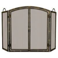 UniFlame® 3-Panel Screen Sparkguard with Doors in Bronze