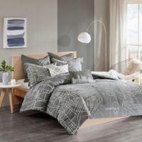 Urban Habitat Manhattan Reversible King/California King Comforter Set in Charcoal