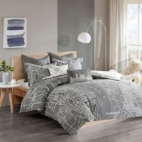 Urban Habitat Manhattan Reversible King/California King Duvet Cover Set in Charcoal