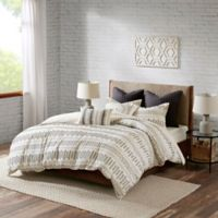 INK+IVY Rhea King/California King Comforter Set in Ivory/Charcoal
