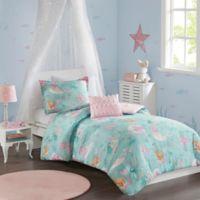 Mi Zone Kids Darya 3-Piece Reversible Twin Comforter Set in Aqua/Pink