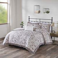 510 Design Molly Reversible 5-Piece Full/Queen Comforter Set in Grey