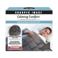 Sharper Image® Calming Comfort 25 lb. Weighted Blanket in Grey