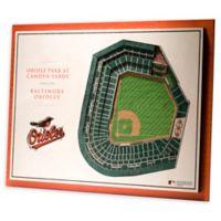MLB Baltimore Orioles 5-Layer Stadium Views 3D Wall Art
