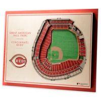 MLB Cincinnati Reds 5-Layer Stadium Views 3D Wall Art