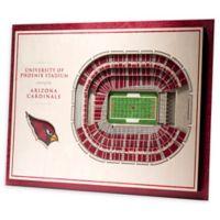 NFL Arizona Cardinals 5-Layer Stadium Views 3D Wall Art