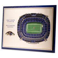 NFL Baltimore Ravens 5-Layer Stadium Views 3D Wall Art