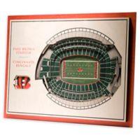 NFL Cincinnati Bengals 5-Layer Stadium Views 3D Wall Art