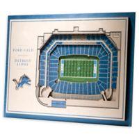 NFL Detroit Lions 5-Layer StadiumViews 3D Wall Art