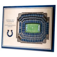 NFL Indianapolis Colts 5-Layer Stadium Views 3D Wall Art