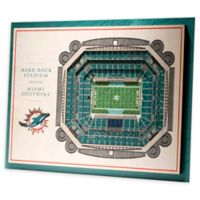 NFL Miami Dolphins 5-Layer Stadium Views 3D Wall Art
