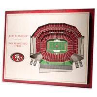 NFL San Francisco 49ers 5-Layer Stadium Views 3D Wall Art